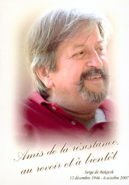 Serge de Beketch et la résistance royale (décédé le 6 octobre2007)