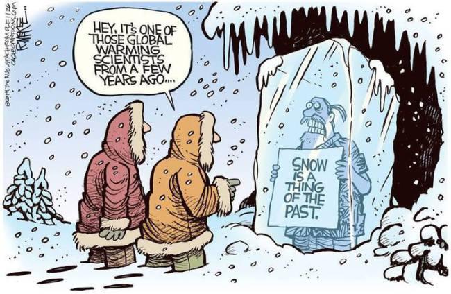Le refroidissement climatique confirme le réchauffement de la planète (et donc le flicage et le taxage de tout lemonde)