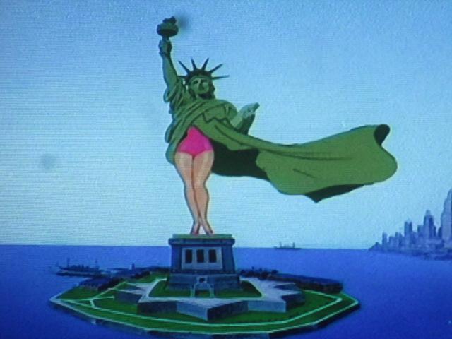 Bill Bonner et sa mise en garde sur le prochain déshabillage bancaire et financier… Ici la statue de la liberté par Tex Avery!